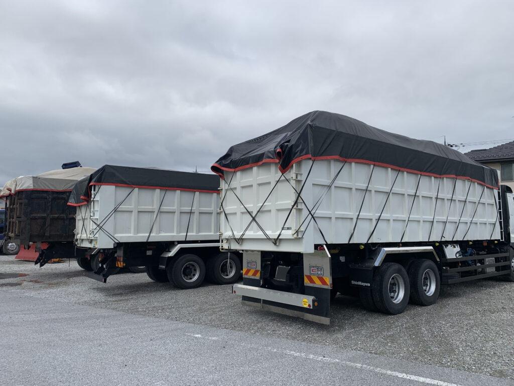 産業廃棄物運搬車 大型車 メッシュシート