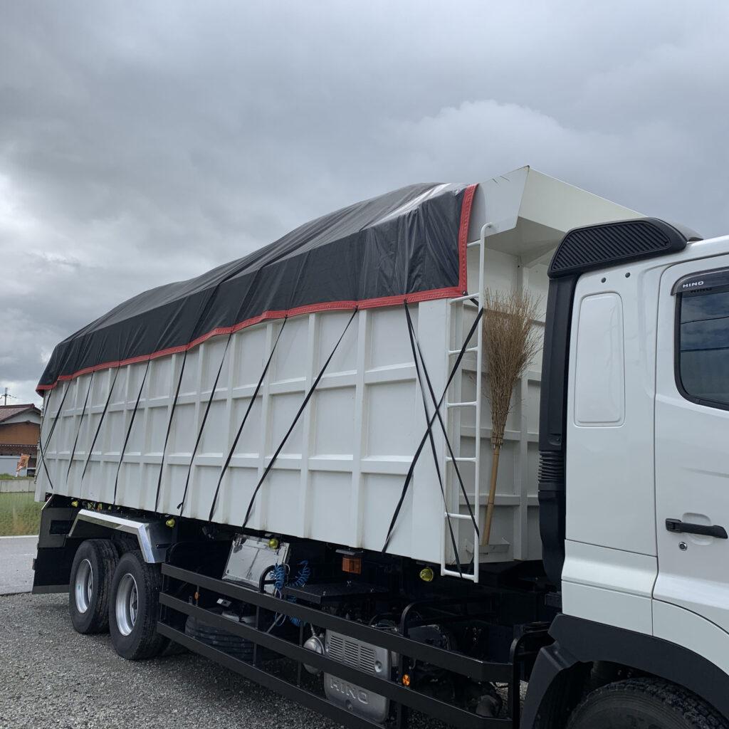 産業廃棄物運搬車用 メッシュシート
