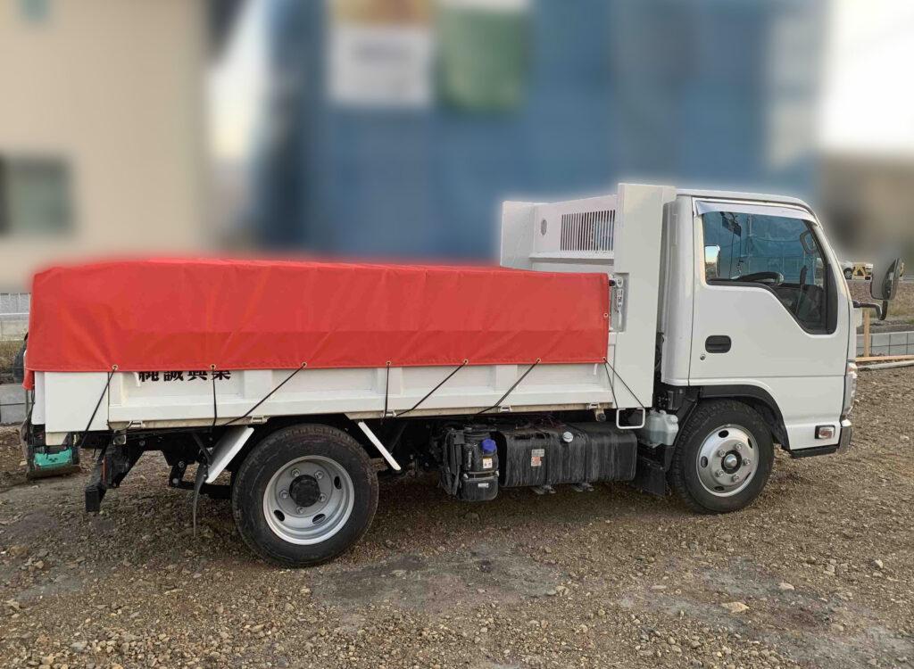 トラックシート ダンプ用シート 赤色