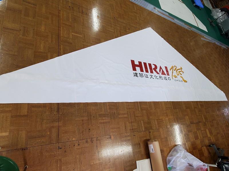 特注サイズ組立式テント5.4m×10.8mを製作納品しました
